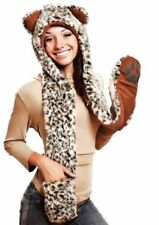 Faux Fur Animal Print Scarves & Wraps for Women
