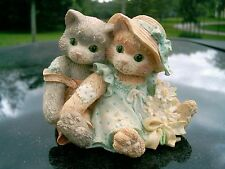 "Enesco Calico Kittens figurine ""Friendship is a Warm, Close Feeling"" 1993 nice"