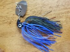 3 pack of 1/2oz Bluegill Vibra jigs with 5/0 black nickel Eagle Claw