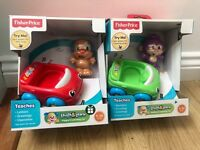 Fisher-Price Puppy's learning Car music numbers letters talks x2 New