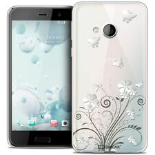 Coque Crystal Gel Pour HTC U Play Extra Fine Souple Summer Papillons