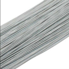50pcs White #26 0.45mm Paper Covered Artificial Branches Twigs Iron Wire 60cm
