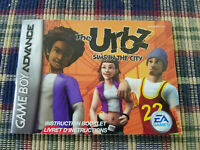 The Urbz Sims in the City - Authentic - Nintendo Game Boy Advance - GBA - Manual