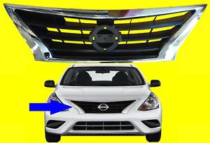 Grille fits Nissan Versa 2015 - 2019 Black / Chrome | 623109KM0A NI1200261