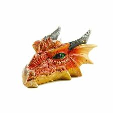 DRAGON HEAD Arancione Fantasy Resina TEA LIGHT CANDLE HOLDER
