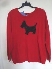 Ladies Plus Sweater Laura Scott  Red Dog Crew Size 3 X large