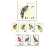 TAN9204 Birds 7+block MNH TANZANIA 1992