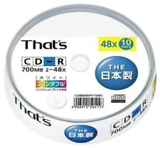 Taiyo Yuden made That's CD-R data for 48x 700MB printable spindle case 10 pi F/S
