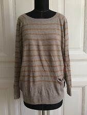 TOP Blogger boho gestreift oversized ANGORA Pullover GHARANI STROK London XL NEU