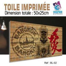 TOILE IMPRIMEE - 50x25 cm - IMPRESSION SUR TOILE IMPRIMEE - BL-02 - BUDDHA - ZEN
