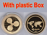 A1 Gold Ripple Commemorative Round Collectors Coin XRP Coin is Gold Plated Coins