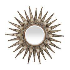 Centauri Starburst Beveled Round Wall Hanging Mirror - Metal Frame