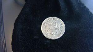 EL CAZADOR SHIPWRECK COIN 1/2 SILVER REALES COIN MINTED 1783 W/COA