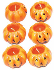 6PCS Halloween Candles 6cm Pumpkin Tea Lights Candle Light Decoration Prop
