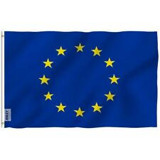 ANLEY European Union Flag Polyester EU Flags Canvas Header Double Stitched 3x5ft
