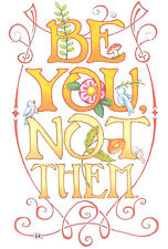 Mary Engelbreit-Be You Not Them-Blank Greeting Card w/Envelope-New!