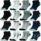 Mens 3-12 Pairs Cotton Sports Comfort Ankle/Quarter Crew Low Cut Socks Size 9-13