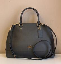 Coach Sierra Satchel Large Leather Crossbody Bag Navy Blue NWT