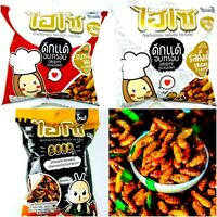 Hiso Crispy Silkworm Original & BBQ Flavour Snack Edible Insect excellent taste