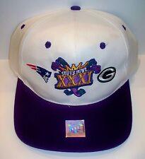 Packers vs Patriots Duel Logo SnapBack Hat Super Bowl XXXI 31 1997