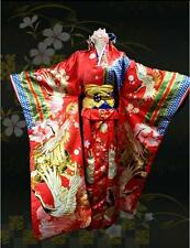 VOCALOID Miku Kimono Cosplay Costume Red Crane Floral Lolita Dress Custom made