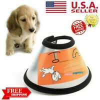 Pet Elizabethan Collar Dog Cat Wound Healing Collar Anti Bite Protection Cone US