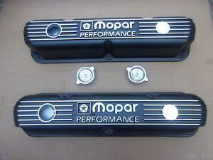 NEW Mopar Performance 273 318 340 360 LA ENGINE Cast Aluminum Valve Covers