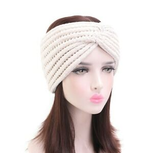 Women Winter Crochet Knitting Headbands Bohemia Cross Hair bands Hairband