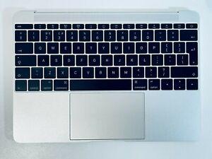 "Apple MacBook Retina 12"" A1534 2015 Silver Full Palmrest Touchpad + UK Keyboard"