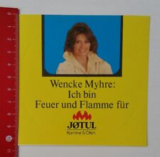 Aufkleber/Sticker: Ich bin Feuer und Flamme für Jøtul Kamine & Öfen (210217105)