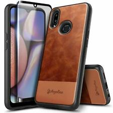 For Samsung Galaxy A10s/A20s Case Shockproof Leather Phone Cover +Tempered Glass