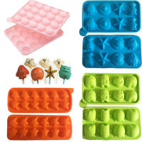 Silicone Pop Cake Mould Mold Lolly Stick Ice Monster Space Ghost Bake Freeze Kid
