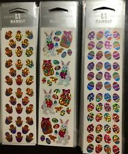 Jillson & Roberts Prismatic Stickers, Micro Easter Eggs, Chicks, and Bunnies LOT