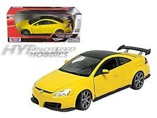 MOTORMAX 1:18 2003 HONDA ACCORD CUSTOM TUNER  DIE-CAST YELLOW  73146