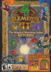 4 ELEMENTS II - Puzzle PC Game - Plus 2 FREE BONUS Games - NEW!