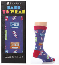 Mens Dare To Wear Novelty Gift Box Socks size 7-11 Uk, 40-45 Eur, Eighties!