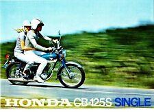 1972 HONDA CB125S Single 4 Page Motorcycle Brochure NOS