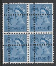 Jersey 3690 - 1967 Regional 4d block of 4  DOUBLE PERFS  FORGERY u/m