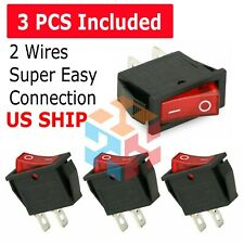 3pcs Car Auto Rocker Switch SPST ON OFF Toggle 15 AMP 250V 20 AMP 125V 2 PIN