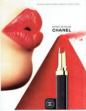 Publicité Advertising 117  1998    Chanel  maquillage rouge à lèvres