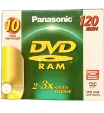 Panasonic 10pk DVD RAM 120min LM-AF120LU10 New Factory Sealed