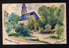 113497 AK Berlin Südende 1919 Künstlerkarte handgemalt Kirche