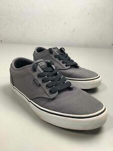 Men's Vans Ortholite Grey Canvas Shoes Size 9.5