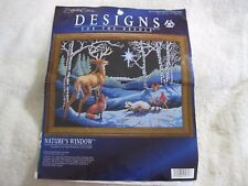 Designs for the Needle Nature's Window forest animals counted cross stitch kit