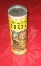 Vintage Storyland Puzzle - Hansel & Gretel in Collectors Tin Can