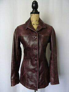 Vintage MAURITIUS Leather Jacket Size 8-10