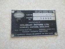 Original Wolseley car body badge / emblem