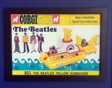 Corgi Toys 803 The Beatles Yellow Submarine 1969 Framed A4 Size Poster Sign