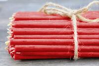 Diveevo Rubinrot 100 St Rote Bienenwachs dünne Kerzen Kirchenqualität 16 cm