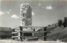 c1950 Unposted Real Photo PC WPA? Tie Hack Monument Hwy 287 Dubois WY Sanborn